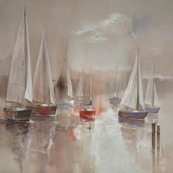 Sailing Away IV by Wilfred -  sized 38x38 inches. Available from Whitewall Galleries